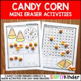 Candy Corn Mini Eraser Activities