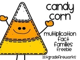 Candy Corn Mulitiplication Fact Families...FREEBIE