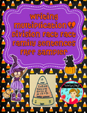Multiplication and Division Fact Family Sentences FREE ~ Candy Corn Themed