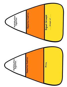 Candy Corn Multiplication (3.OA.1) Craftivity & Bulletin Board Set
