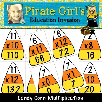 Candy Corn Multiplication Cards