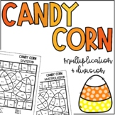 Candy Corn Multiplication Division Color by Number