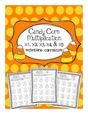 Candy Corn Multiplication x1 through x5