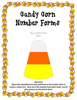 Candy Corn Number Forms