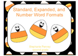 Candy Corn Number Forms: Standard, Expanded, Word