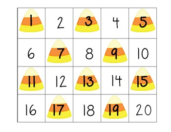 Candy Corn Number Grab
