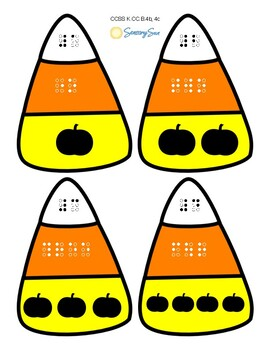 Halloween Candy Corn Number Match 0-10 (Braille & Print)
