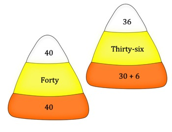 Fall Candy Corn Number Match