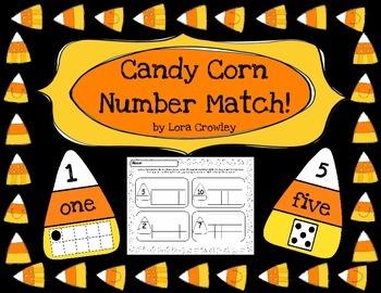 Candy Corn Number Match **{FREEBIE}**