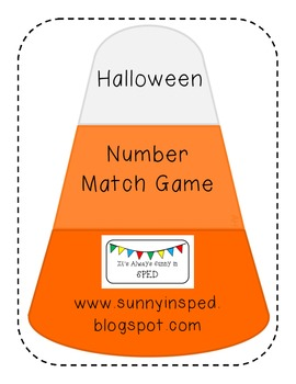 Candy Corn Number Match Game (Autism Classroom)