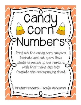 Candy Corn Number Match / Number Recognition / Counting