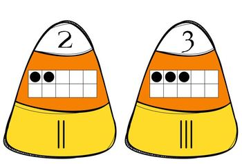 Candy Corn Number Match Puzzle(ten frame & tally marks)