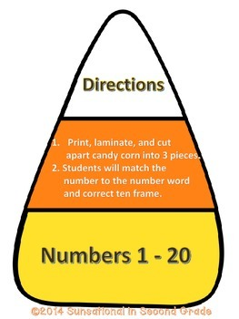 Candy Corn Number Match-Up (1-20)