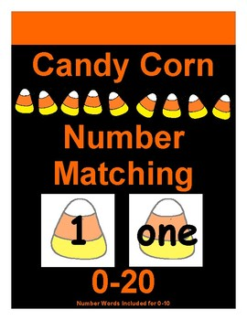 Candy Corn Number Matching 1-20