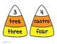 Candy Corn Number Puzzles, Dual Language: English and Spanish