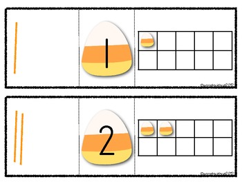 Candy Corn Number Puzzles Learning Center