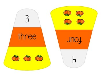 Number Recognition 1-10 - Candy Corn