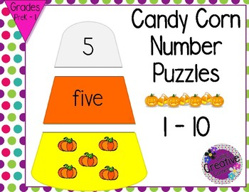 Candy Corn Number Recognition - Fall/Halloween