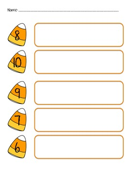 Candy Corn Number Sets 6-10