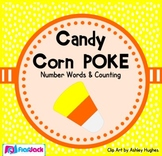Candy Corn Number Words & Counting 0-10 Poke Game - FREE