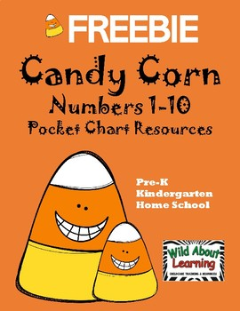 Candy Corn Numbers 1-10 Pocket Chart