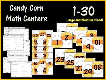 Candy Corn Math Centers (7 Centers!)