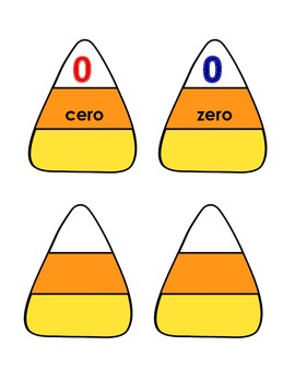 Candy Corn Numbers-Spanish and English