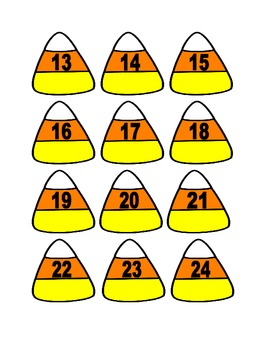 Candy Corn Numbers for Calendar or Math Activity