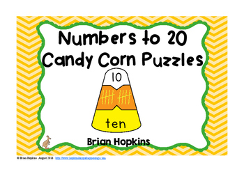 Candy Corn Numbers to 20 Puzzles