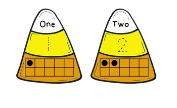 Candy Corn Numbers with 10-Frames
