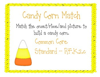 Candy Corn Onset Rime Match