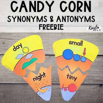 Candy Corn Opposites {Freebie}