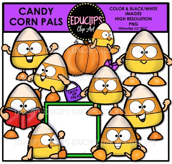Candy Corn Pals Clip Art Bundle {Educlips Clipart}