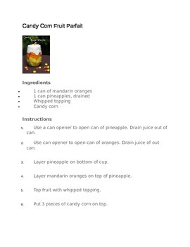 Candy Corn Parfait Recipe and Questions