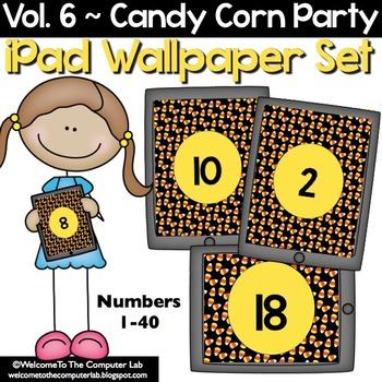 Candy Corn Party iPad Wallpaper Set