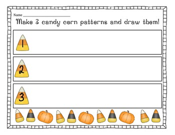 Candy Corn Pattern Center