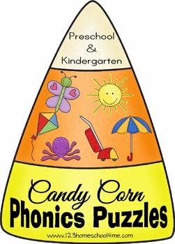 Candy Corn Phonics Puzzles