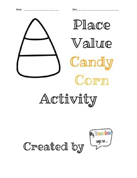 Candy Corn Place Value Halloween/October