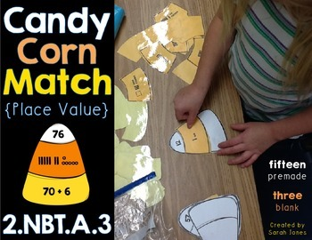 Candy Corn Place Value Match