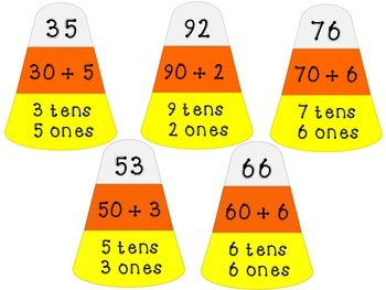 Candy Corn Place Value Puzzles