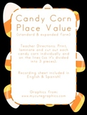 Candy Corn Place Value {expanded & standard form}