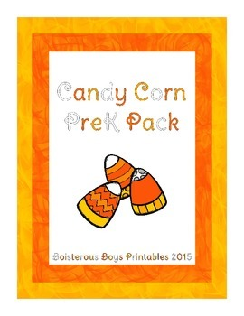 Candy Corn PreK Printable Learning Pack