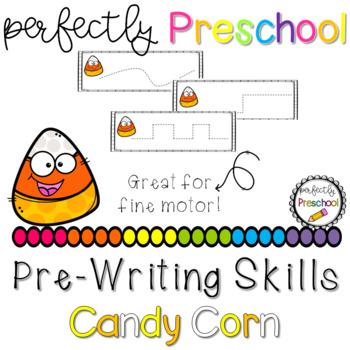 Candy Corn Prewriting Skills