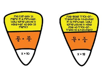 Candy Corn Proportions Matching Activity