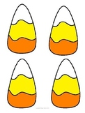 Candy Corn Puzzle Flashcard Template