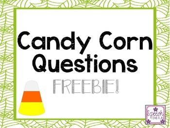 Candy Corn Question Cards