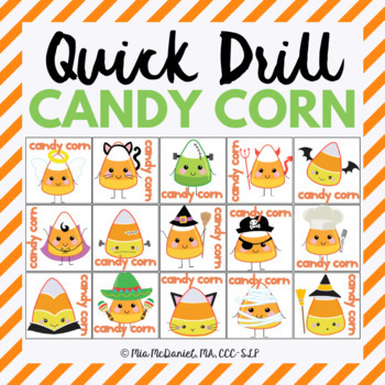Quick Drill Candy Corn {for speech therapy or any skill drill}