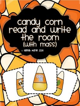 Candy Corn Read and Write the Room {Mass/ Weight}