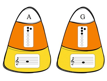 Candy Corn Recorder Border and Game