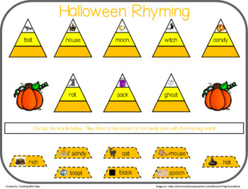 Halloween Candy Corn Rhyming